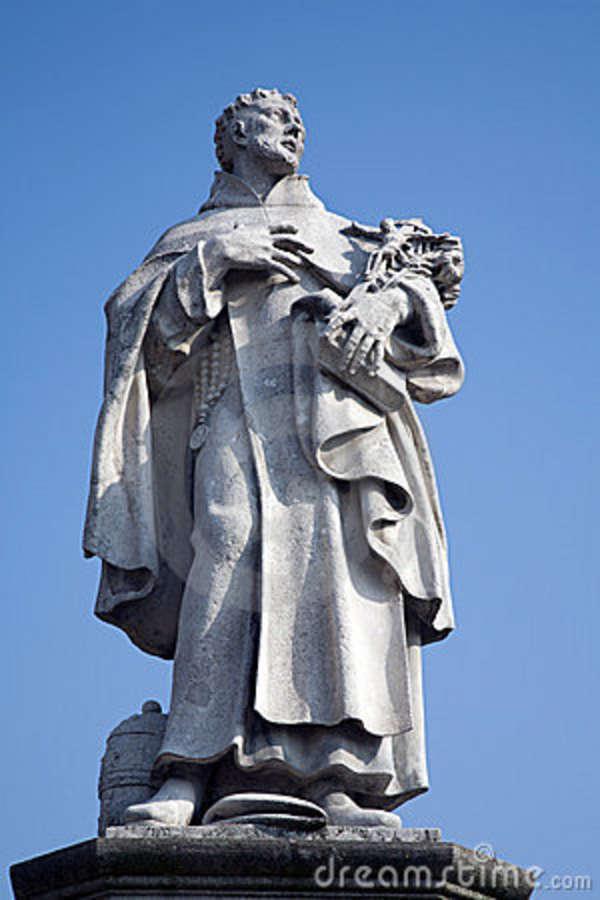 Prague charles bridge st philip benizi statue 16823692