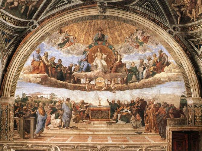 Raphael disputation of the holy sacrament la disputa