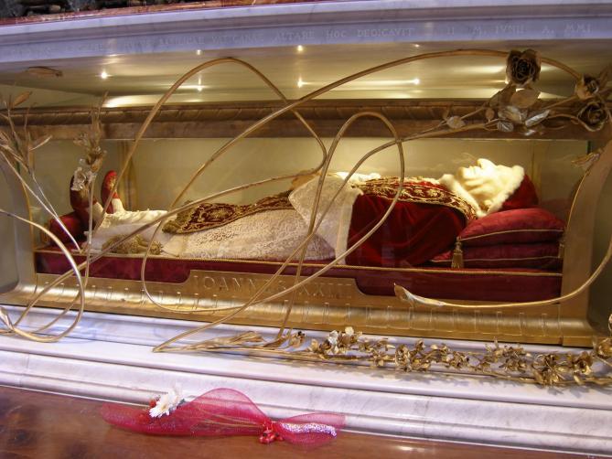 Reliquienschrein papst johannes xxiii petersdom 1