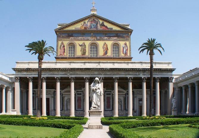 Roma san paolo fuori le mura bw 1 bis