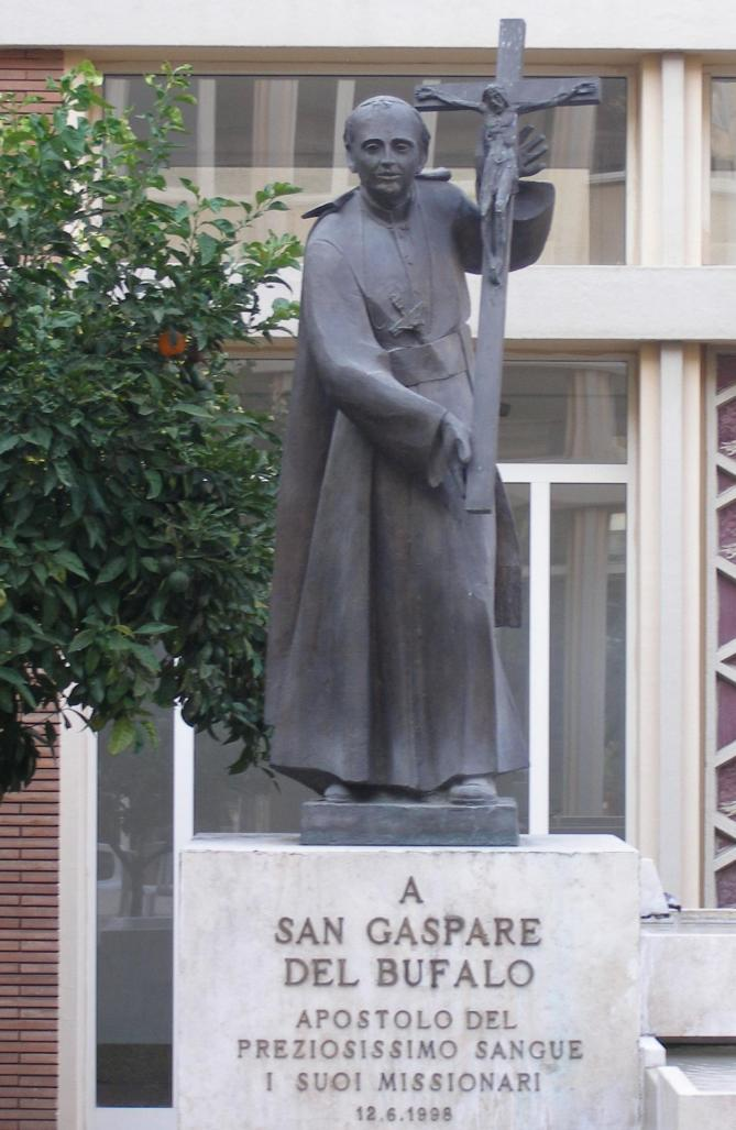 Rome collegio preziosissimo sangue statue of gaspare del bufalo