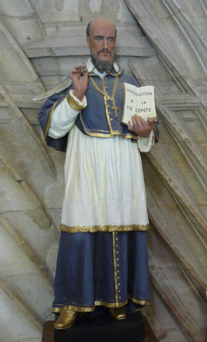 Rouffignac saint cernin eglise statue st francois de sales 11
