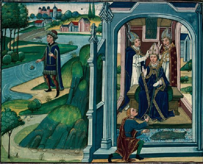 Saint arnoult et le miracle de l anneau retrouve legenda aurea j de voragine xvieme 2