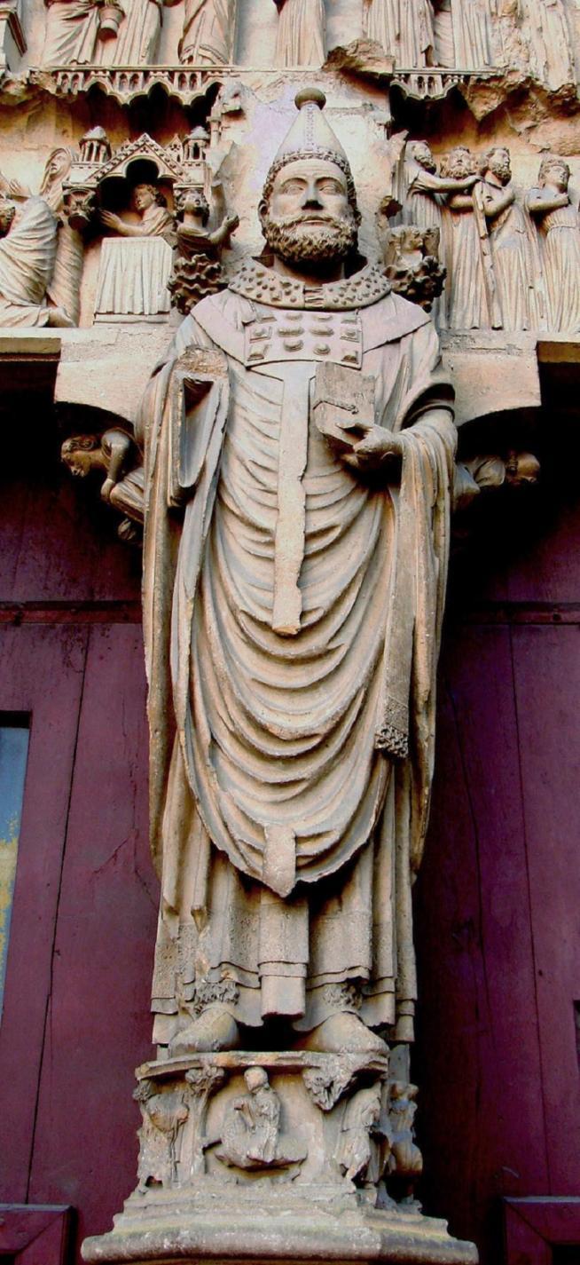 Saint callistus i reims portail nord st calixte 11