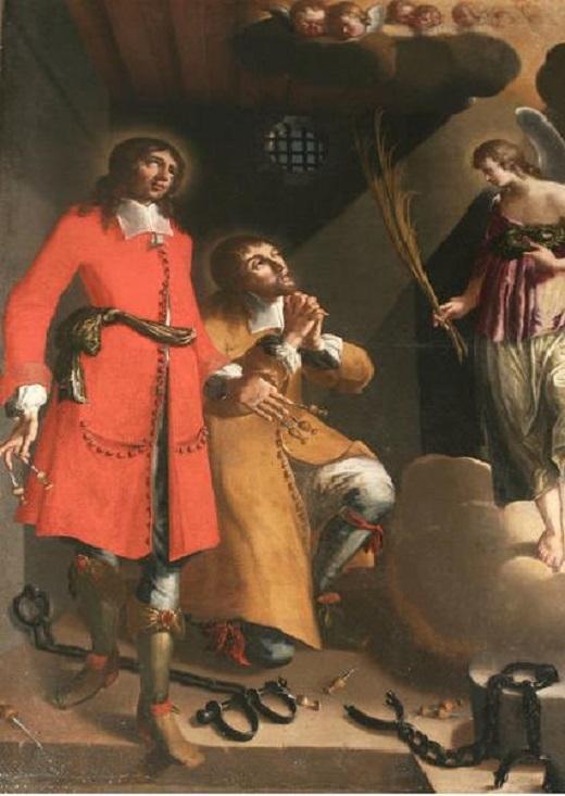 Saint crepin et saint crepinien recevant les palmes du martyre claudes aigues 1683 2