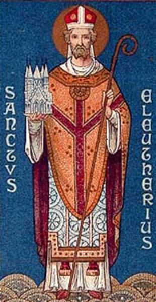 Saint eleuthere abbe a rome 1