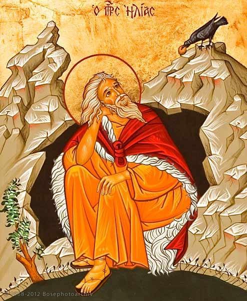 Saint elie le prophete se tient en presence du seigneur il boit au torrent et les corbeaux lui portent sa nourriture 2
