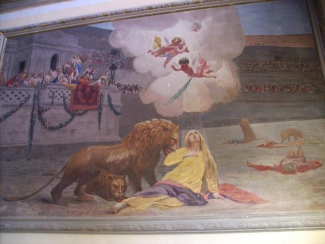 Saint euphemia left mural rovinj croatia 2006 08 28 2