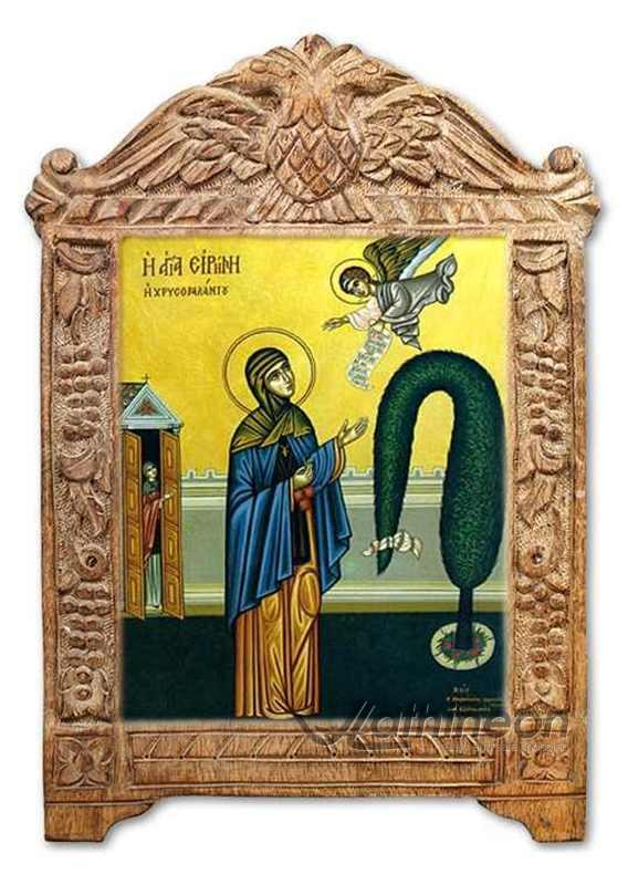 Saint irene hand made withframe2 zoom