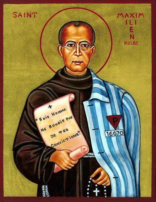 Saint maximilien marie kolbe pretre frere mineur fondateur de la milice de l immaculee martyr 2
