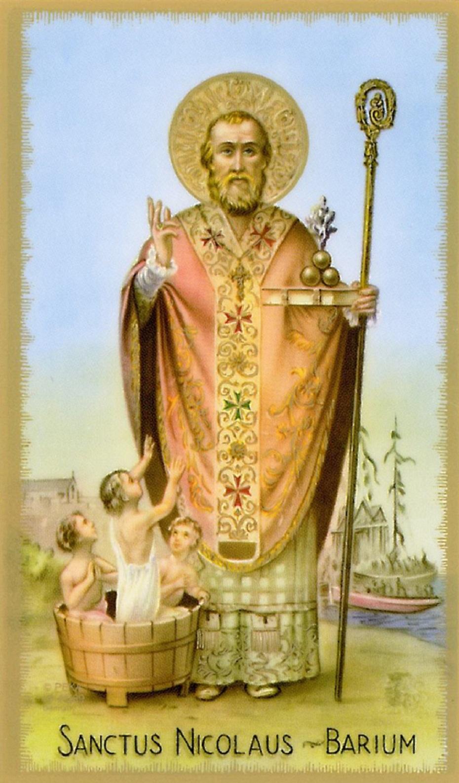 le père noel a rencontré saint nicolas sur un nuage