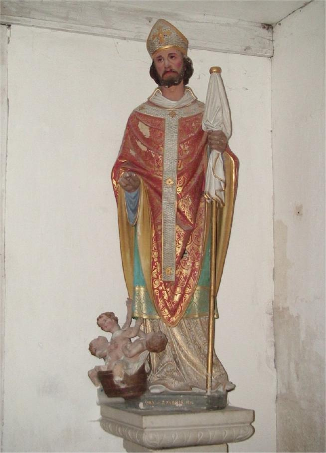 Saint nicolas statue avec 3 enfants 2