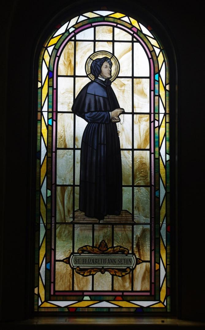 Saint paul catholic church westerville ohio stained glass arcade saint elizabeth ann seton 11