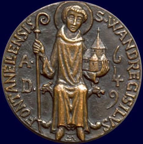 Saint wandrille de fontenelle abbe 669