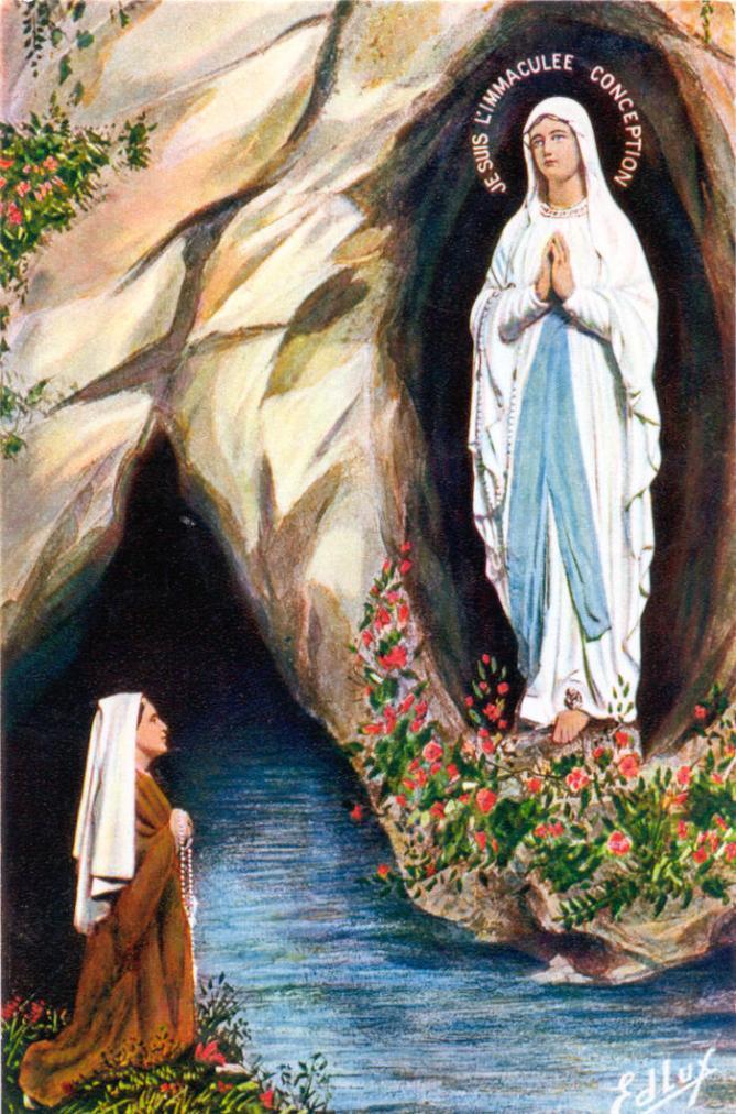 Sainte bernadette et marie a lourdes