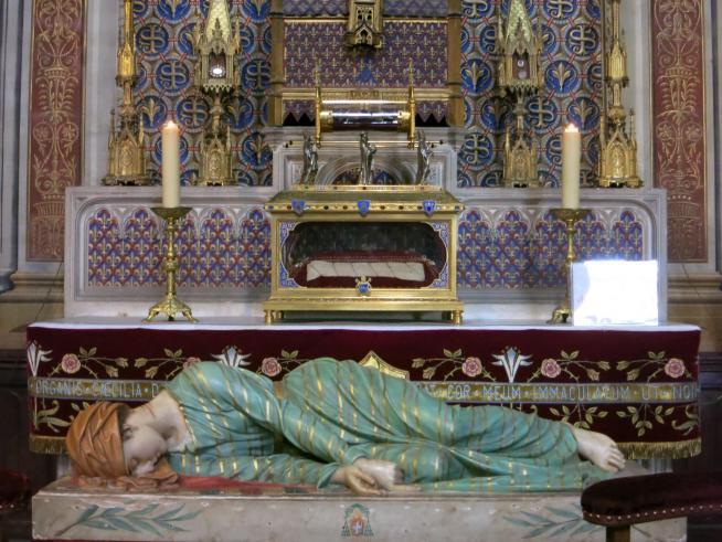 Sainte cecile albi reliques et statue 11