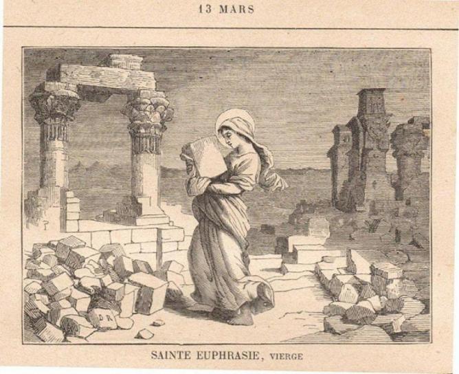 Sainte euphrasie vierge c 413