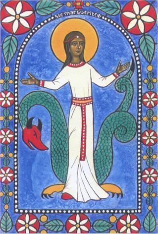 Sainte marine ou marguerite d antioche vierge martyre 1