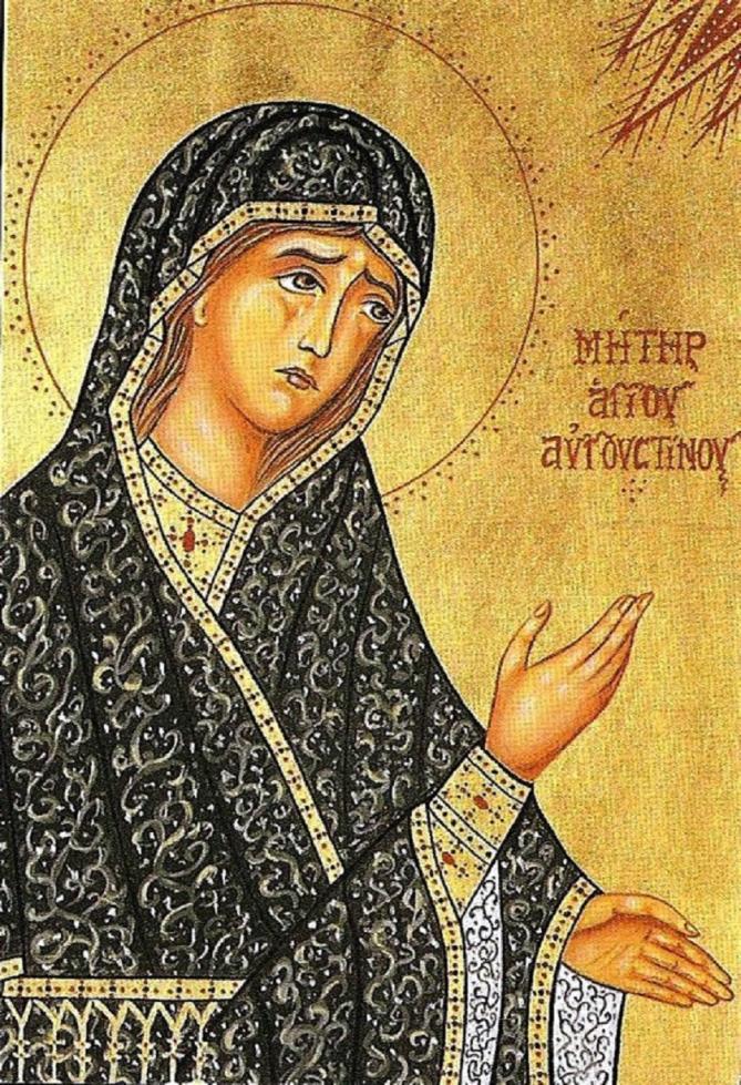 ✟Les Saints - Les Saintes du  Jour✟ Sainte-monique-mere-de-saint-augustin-332-387.2