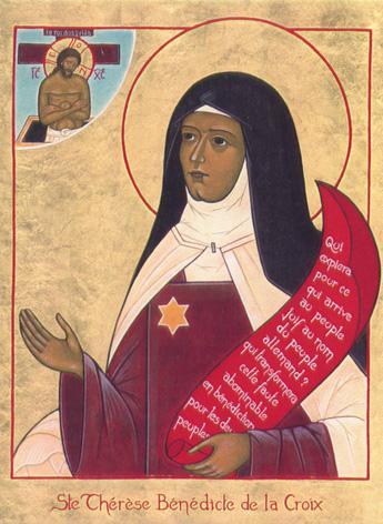 Sainte therese benedicte de la croix edith stein carmelite dechaussee martyre 1