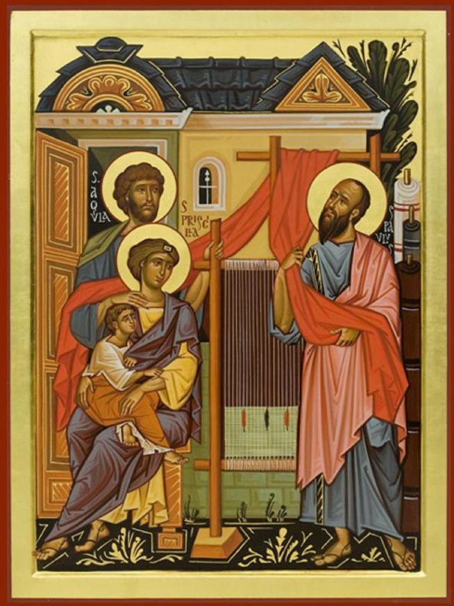 Saints aquila et priscille avec saint paul 11