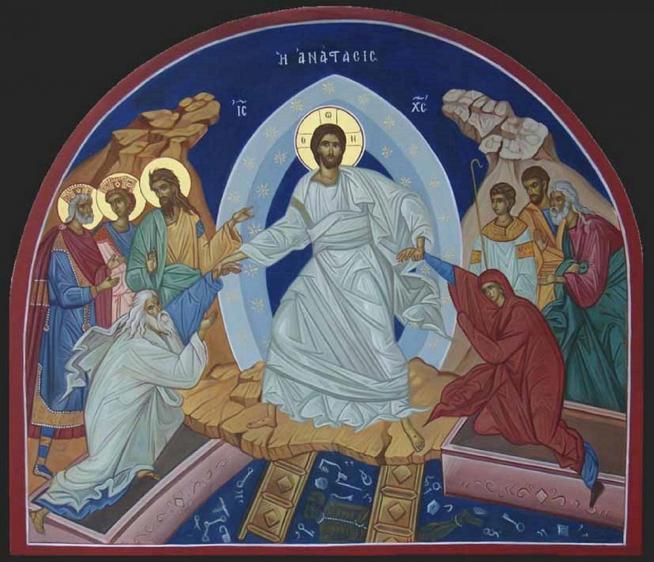 Samedi saint jesus est descendu aux enfers ou ceux qui sont morts en christ sont liberes 11