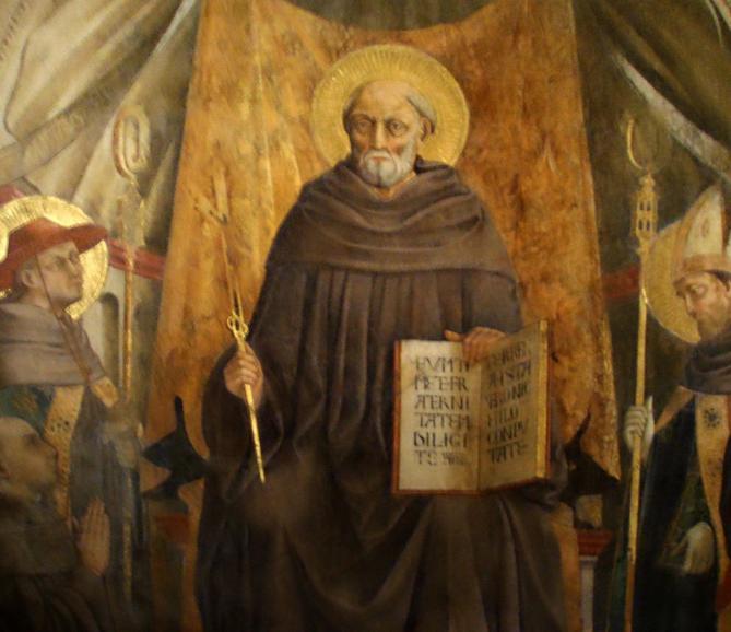 Santa trinita neri di bicci san giovanni gualberto dettaglio 2