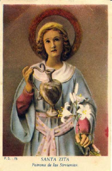 LE SAINT DU JOUR !! - Page 6 Santa-zita-patrona-de-las-sirvientas
