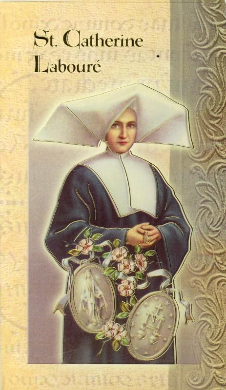 St catherine laboure biography card 500 597 f5 418 463x800