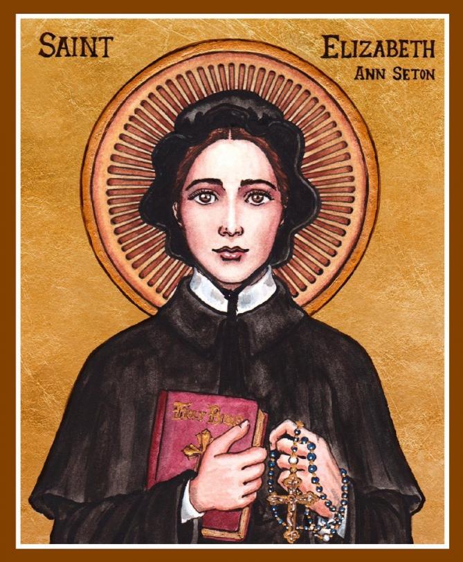 St elizabeth ann seton icon by lordshadowblade d5qe0k1