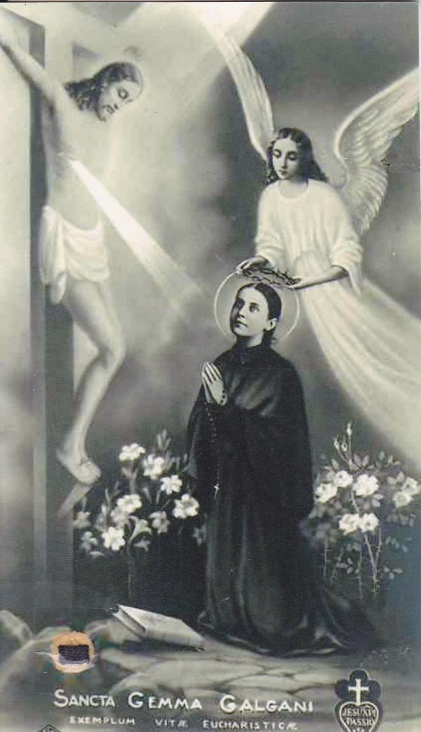 St gemma relic holycard 1