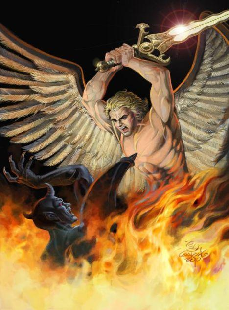 St michel et diable