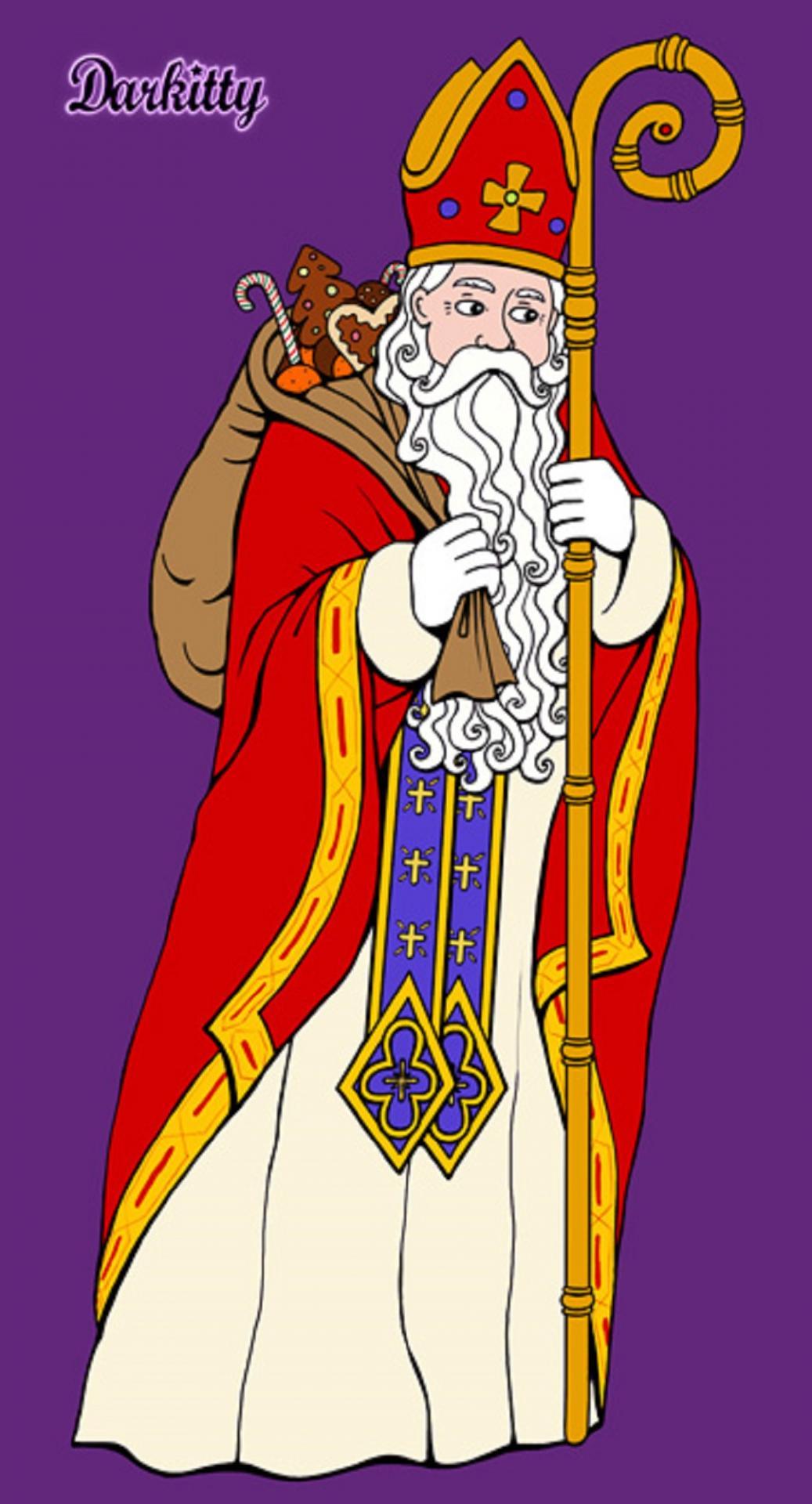 Saint nicolas archev que de myre 345 f te le 06 d cembre - Image de saint nicolas a imprimer ...