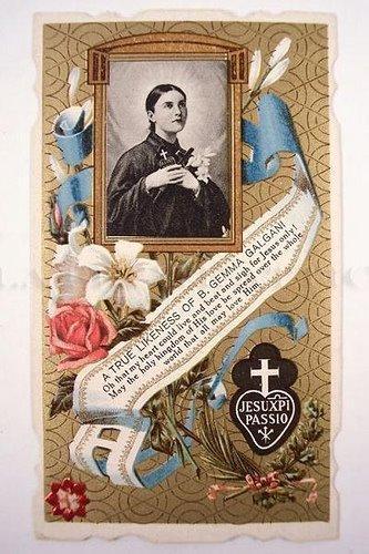 St gemma galgani holy card1