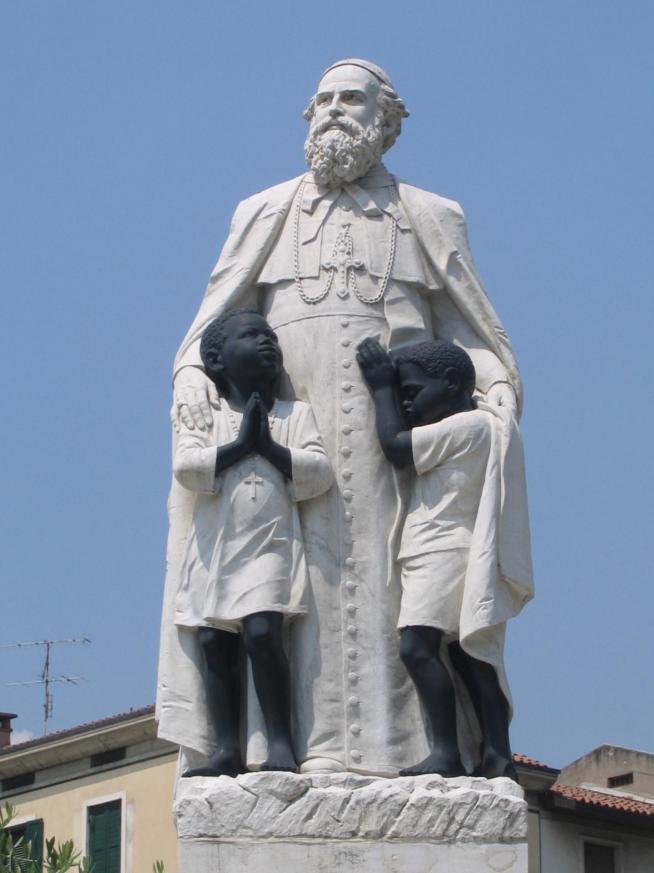 Statua daniele comboni particolare verona