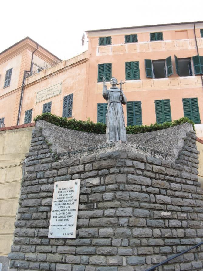 Statua s leonardo portomaurizio