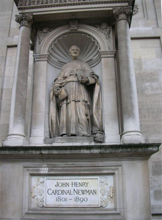Statue cardinal newman brompton oratory 1