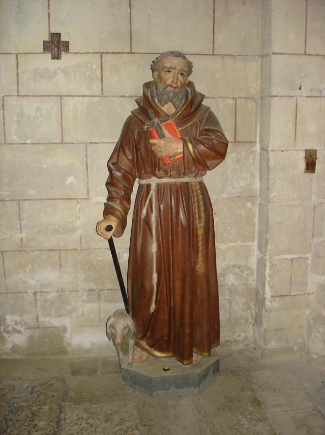 Statue de saint antoine et son cochon