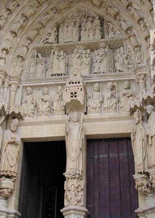Statue de saint firmin porche de la cathedrale notre dame d amiens 1
