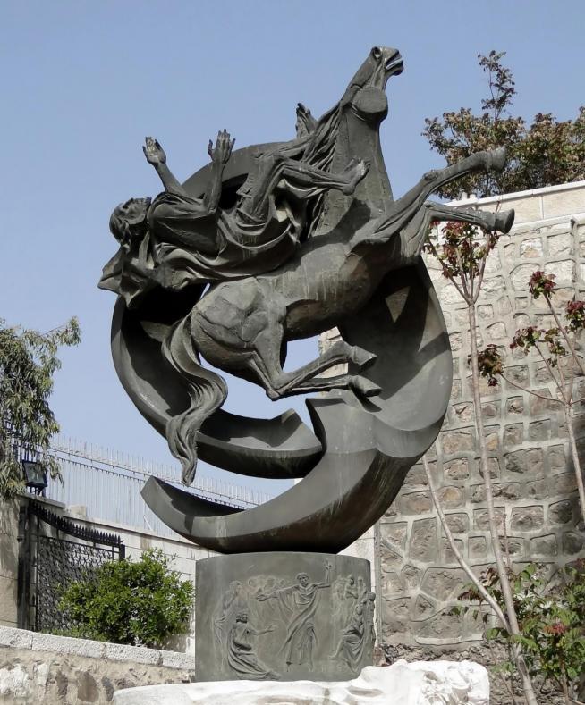 Statue of saint paul damascus 1