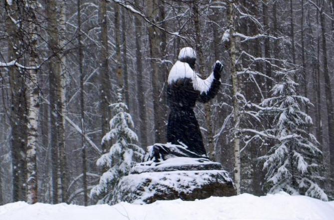 Statue st seraphin