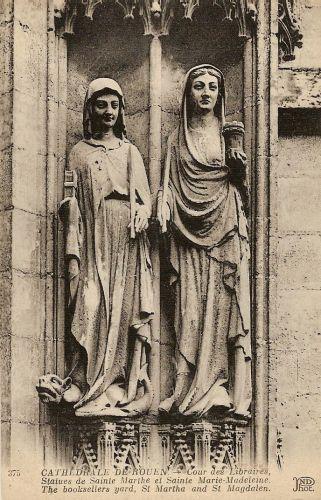 Statues de sainte marthe et de sainte marie madeleine 1