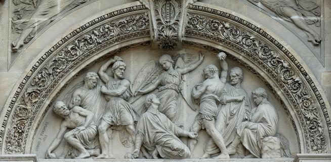 Stoning st stephen saint etienne du mont