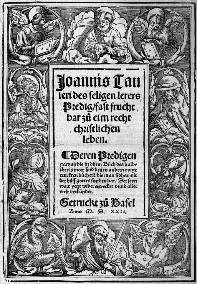 Tauler predig 1522 titel von holbein