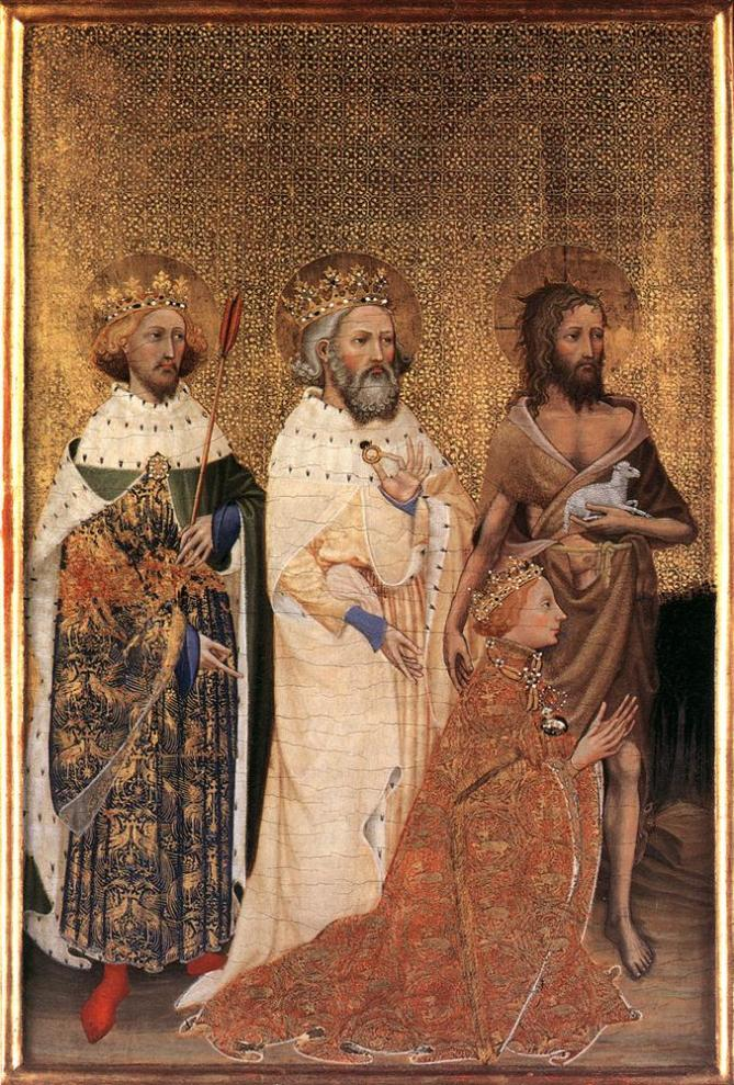 The wilton diptych left