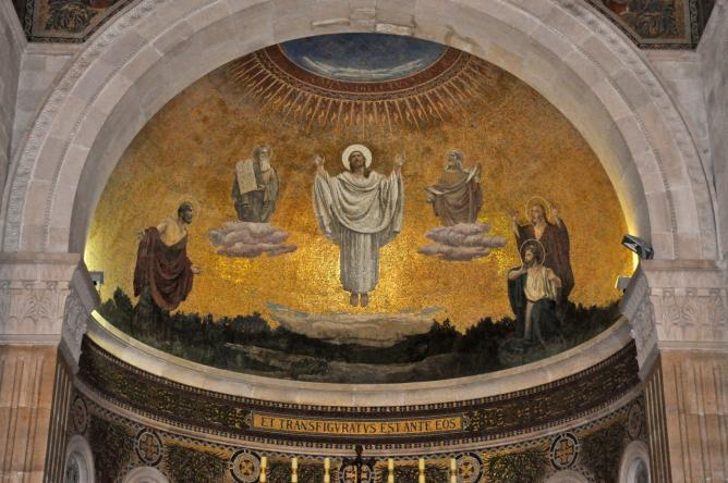 Transfiguration of jesus mosaic