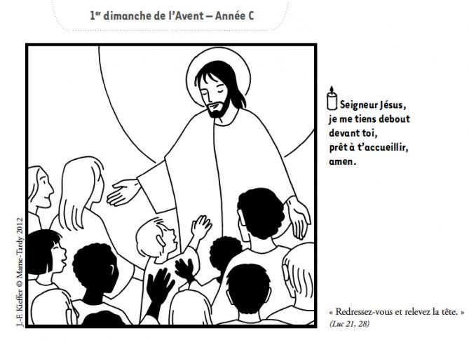 Une dessin de kieffer pour 1er dimanche de l avent annee c 1