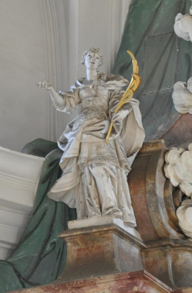 Weingarten hochaltar figur links