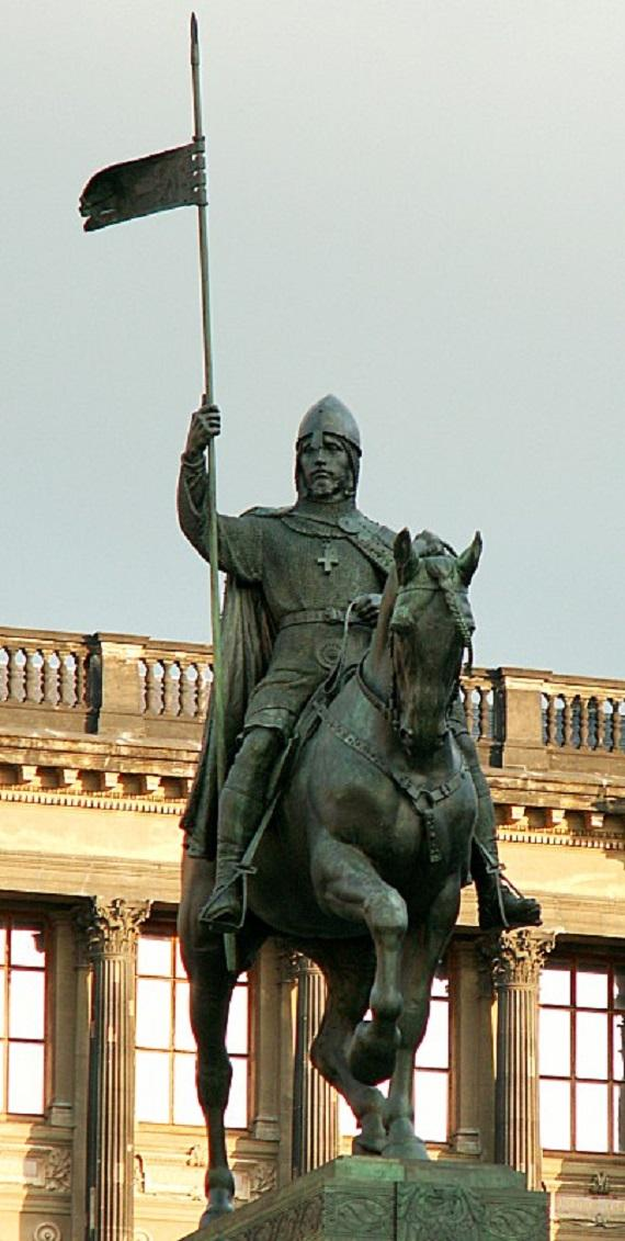 Wenceslaus i duke of bohemia equestrian statue in prague 1 2