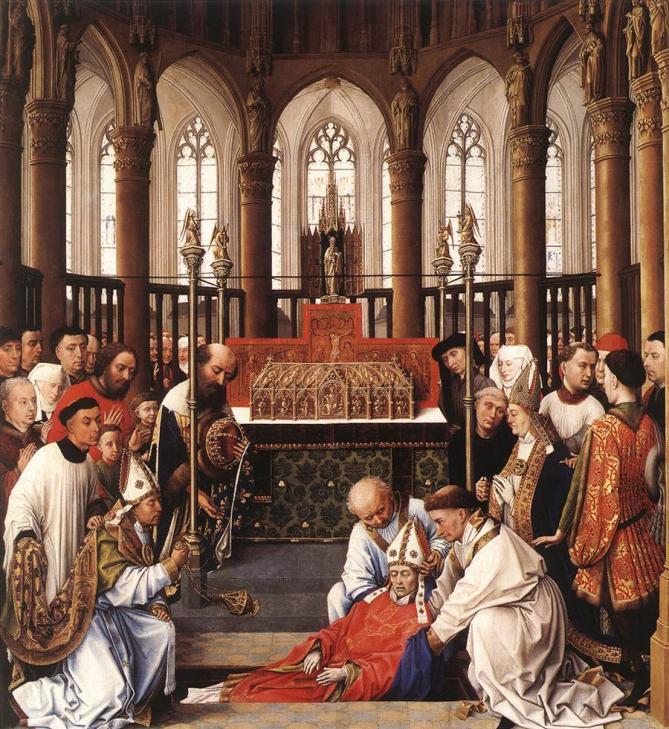 ✟Les Saints - Les Saintes du  Jour✟ - Page 18 Weyden-exhumation-of-st-hubert-2
